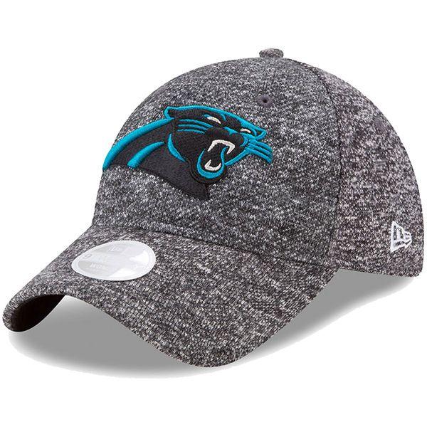 Women s New Era Heathered Gray Carolina Panthers Total Terry 9TWENTY  Adjustable Hat 465e49893