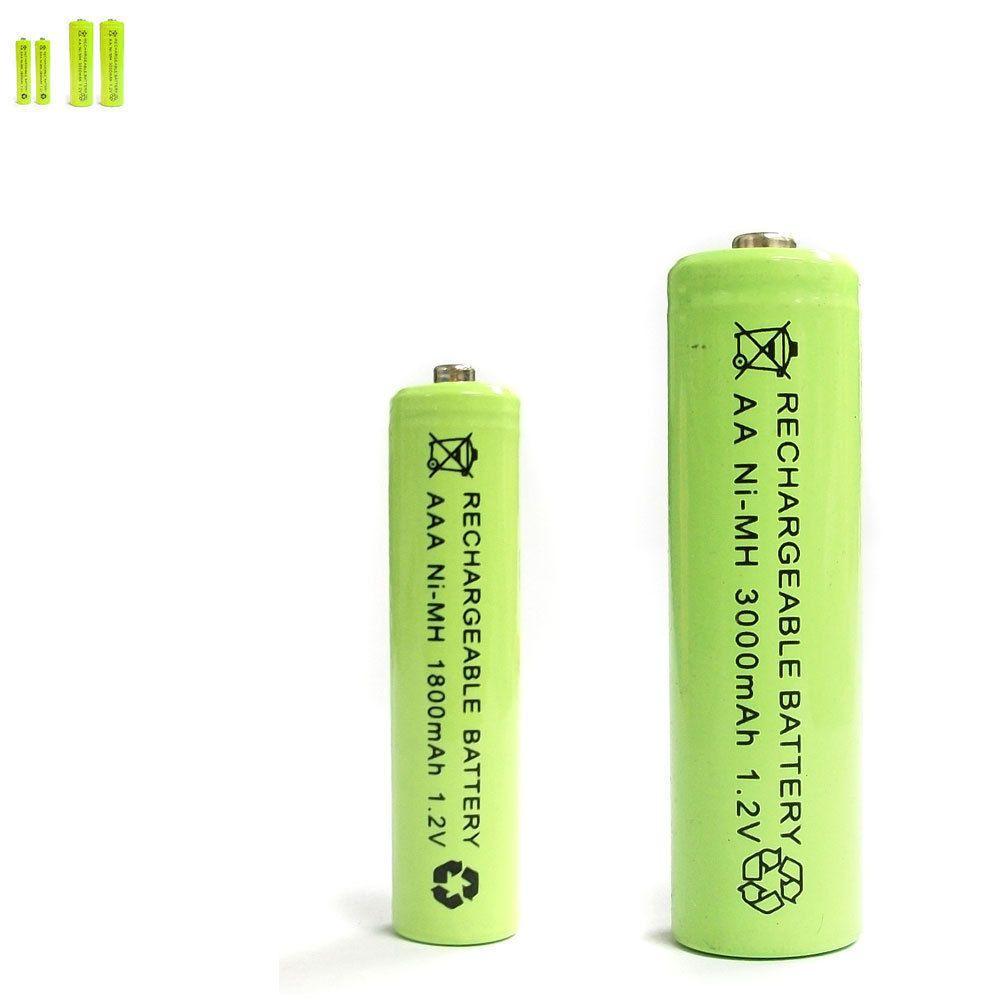 2 Aaa 2 Aa 1800mah 3000mah Ni Mh Rechargeable Battery Solar Light Mp3 Rc Green Ebay Electronics Solar Battery Solar Lights Solar