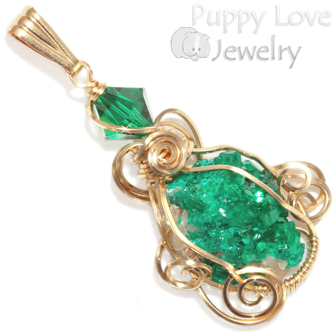Gemmy dioptase crystal wire wrapped pendant in 14k gf artisan gemmy dioptase crystal wire wrapped pendant in 14k gf artisan handmade jewelry watches aloadofball Gallery