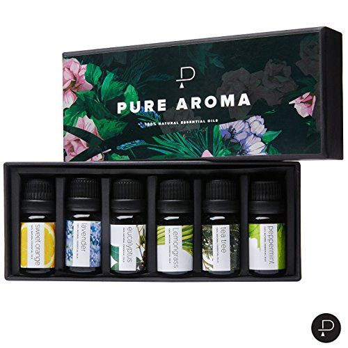Pure Aroma Essential Oils Top 6 Aromatherapy In 1 Box 10 Ml