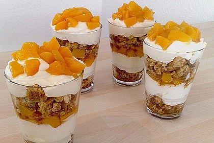 Pfirsich - Cantuccini - Trifle von bananacreampie   Chefkoch -   14 desserts Im Glas cantuccini ideas
