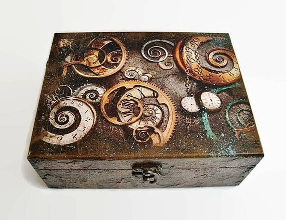 Steampunk Box Steampunk jewellery Storage Box Accessories Gift for