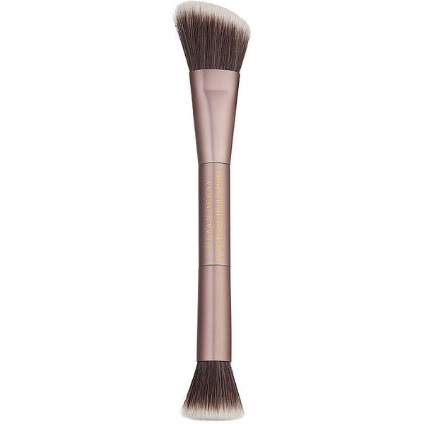 Urban Decay Naked Flushed Double-Ended Brush 1 ea ($20) ❤ liked on Polyvore featuring beauty products, makeup, makeup tools, makeup brushes, beauty, brushes, cosmeticsaccesories, blush makeup brush, urban decay and angled makeup brush