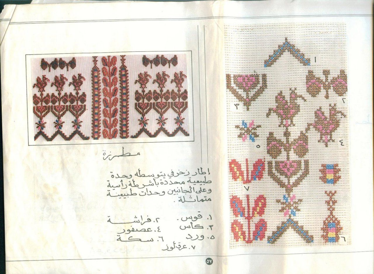Palestinian Sampler Embroidery Book Palestinian Embroidery Book Framed Cross Stitch