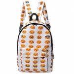 Versatile Smiley Emoji Funny Emotion Backpack Boys Girls Schoolbag