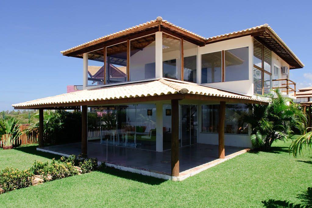 Casas De Estilo Tropical De Chastinet Arquitetura Urbanismo Engenharia Ltda Tropical Madera Acabado En Madera Homify Casas De Dos Pisos Casas De Fincas Casas