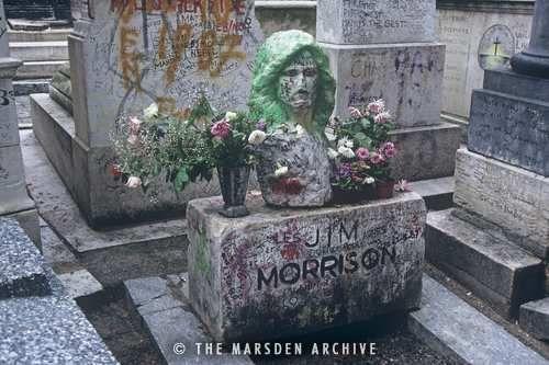 Jim Morrison's Grave, Pere Lachaise Cemetery, Paris ...