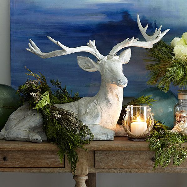 After Christmas Furniture Sales: Regal White Holiday Reindeer