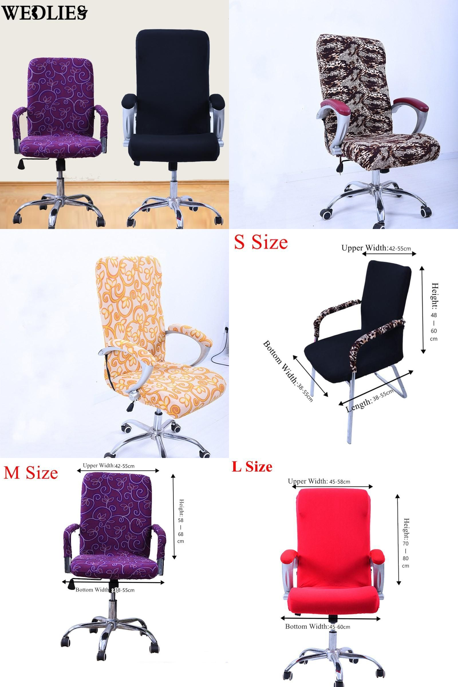Visit to Buy S M L Spandex fice Chair Cover Slipcover Armrest