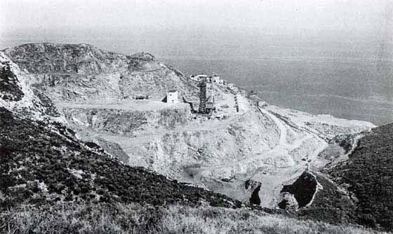 Capoliveri's mines, Elba island, Tuscany, Italy Toskana