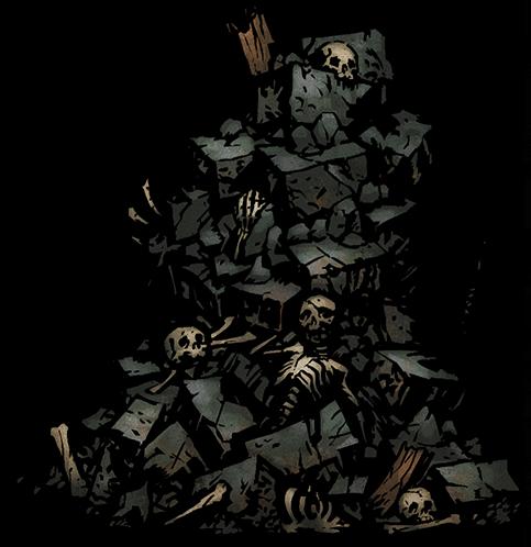 Rubble Darkest Dungeon Art Style Concept Art