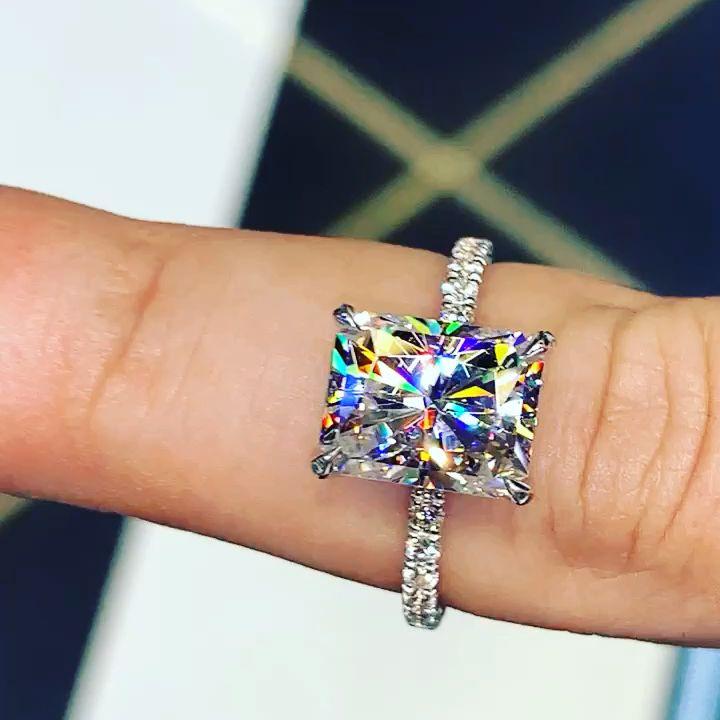 18k White Rose Gold Diamond Er13675m6t84jj In 2019 Liked