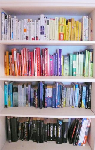 Color Coding Books On Your Shelf Great Look