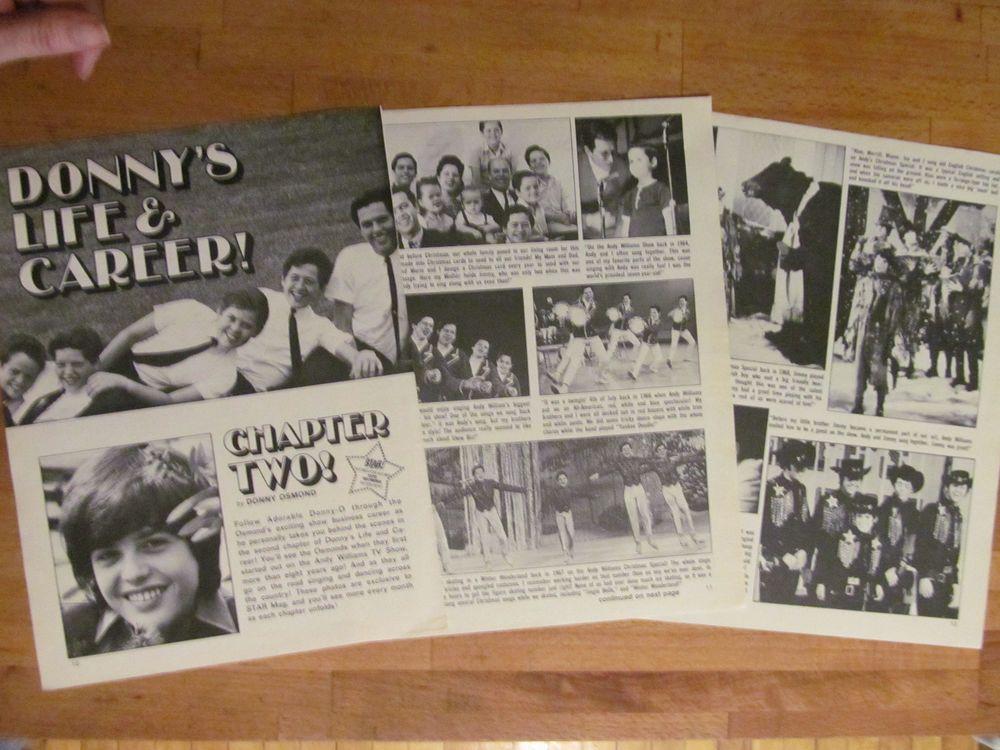 Donny Osmond, Osmond Brothers, Nice Vintage Clipping, Osmonds