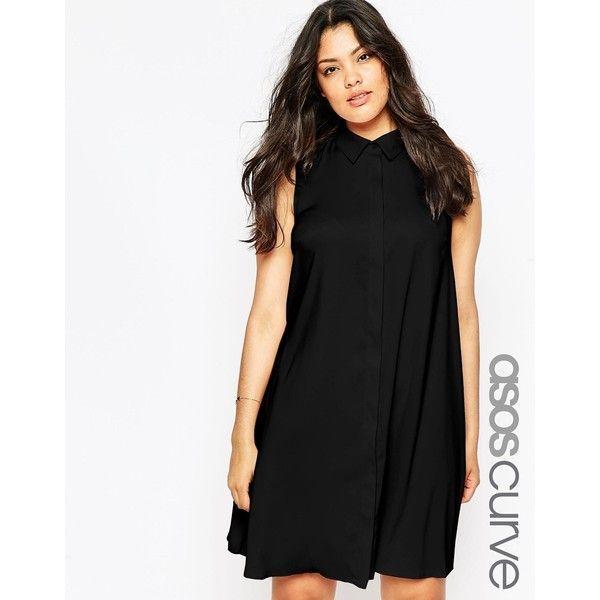 Awesome Plus Size Black Dresses ASOS CURVE Sleeveless Shirt Dress Check more at http://24myshop.cf/fashion-style/plus-size-black-dresses-asos-curve-sleeveless-shirt-dress/