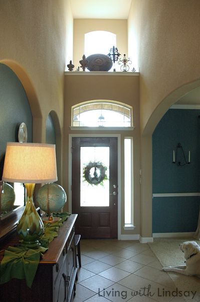 How to decorate an above the door ledge decorating for Decorating ideas for high ledges