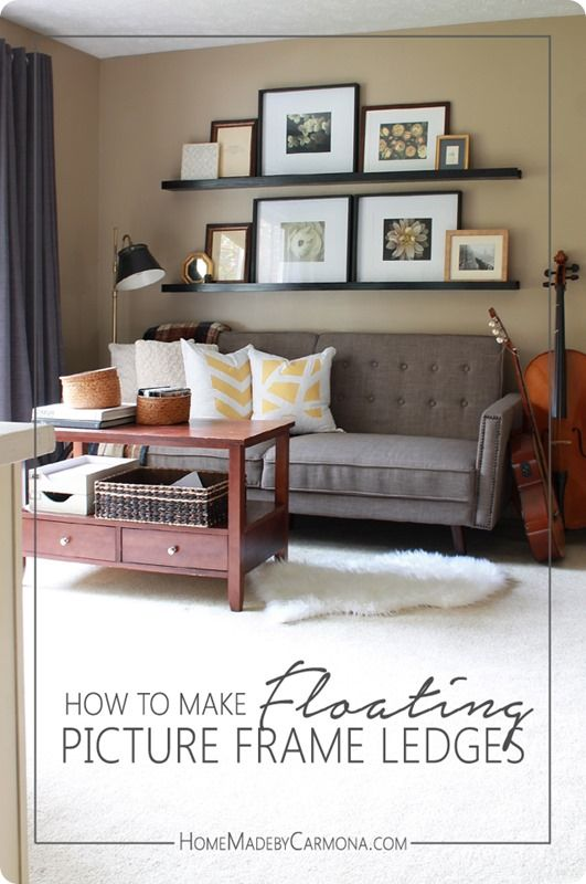 DIY Wood Projects ~ How to Make Floating Picture Frame Ledges | DIY ...