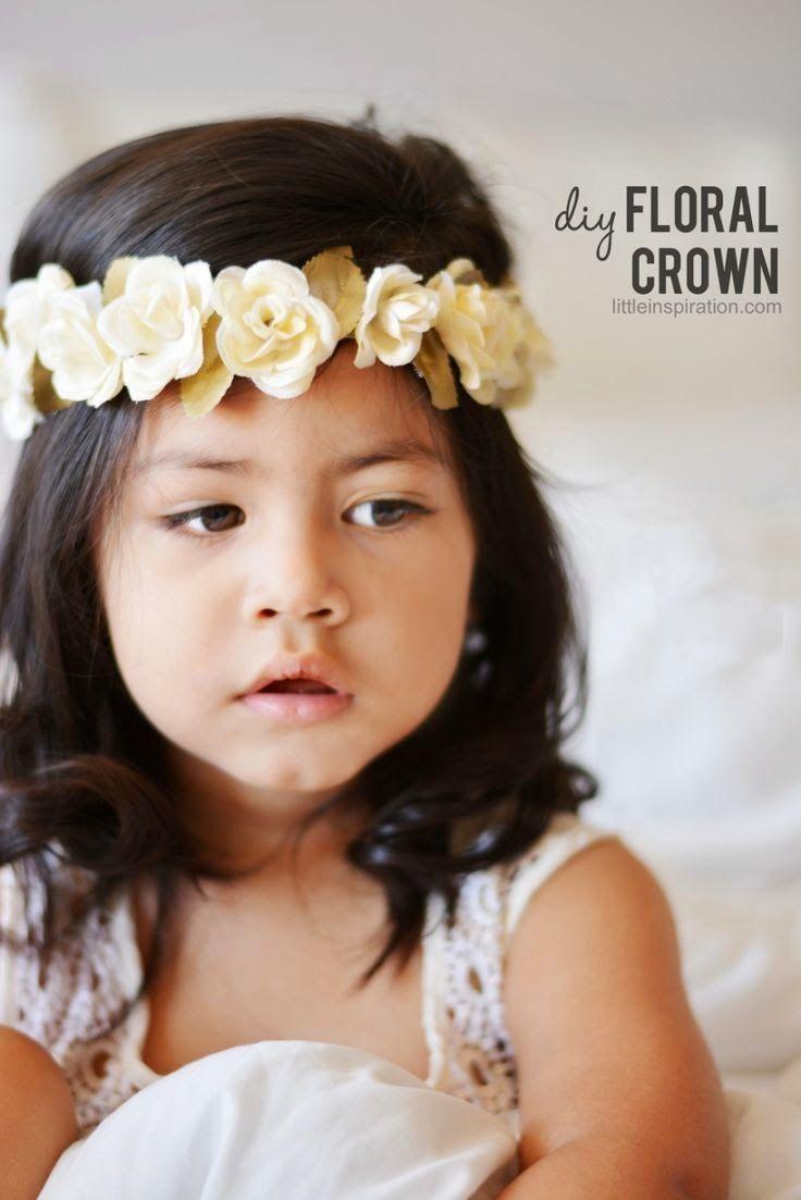 Diy corona flores para ni a capotas diademas coleteros pinterest crochet - Diademas para ninas ...