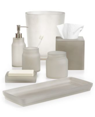 . Martha Stewart Collection Frosted Cobblestone Bath Accessories