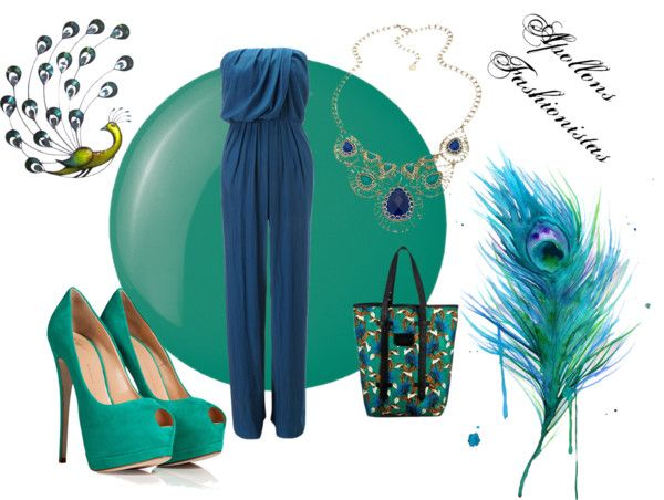 """Peacock"" by apollonsfashionistas ❤ liked on Polyvore"