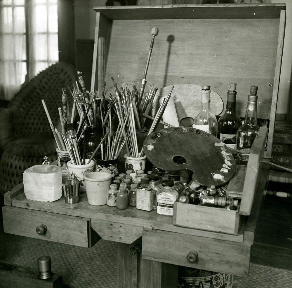 """"""" Palette de Frida Kahlo, Mexique, 1952 (Gisèle Freund) """""""