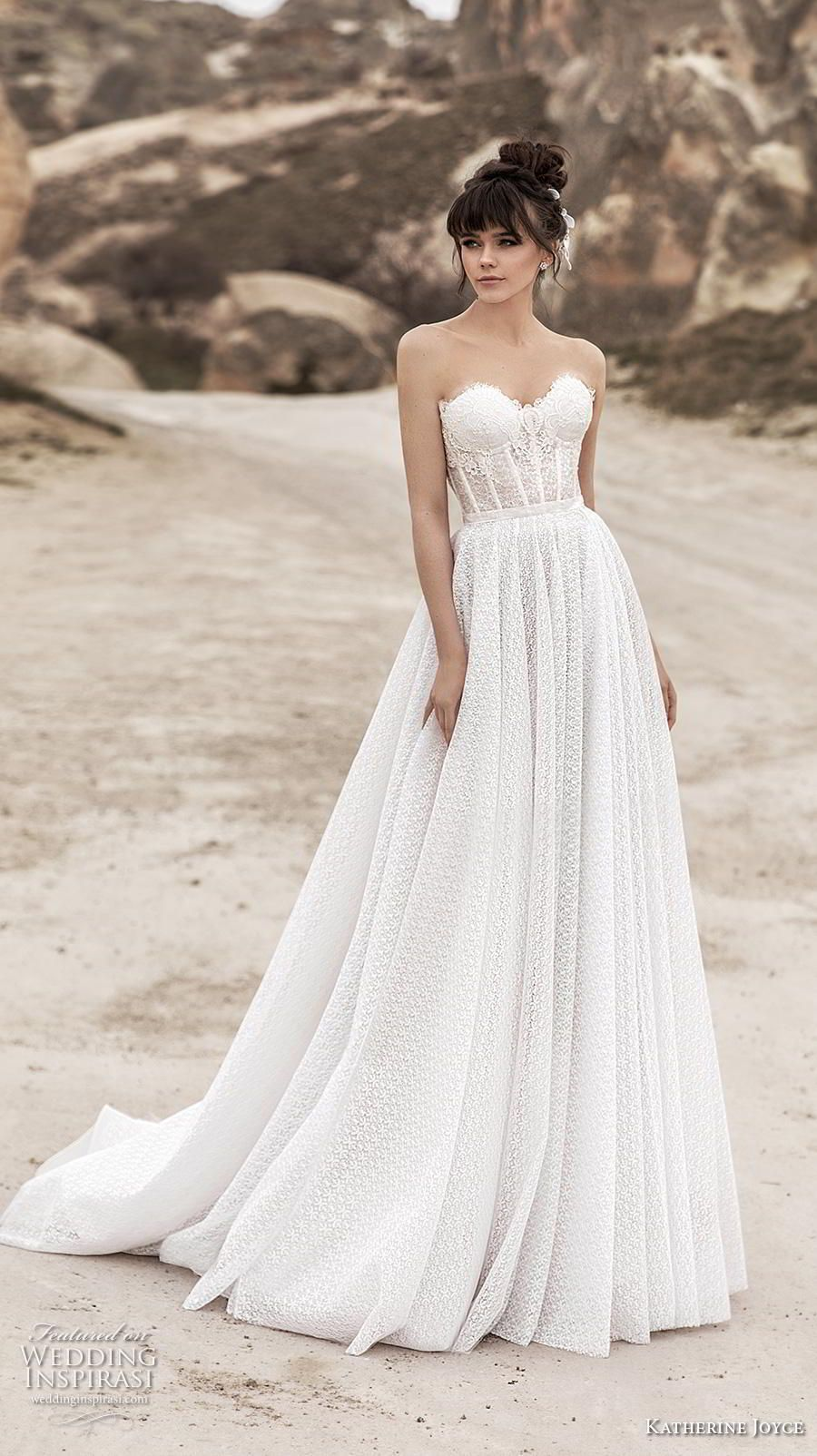 katherine joyce 2020 bridal strapless sweetheart neckline