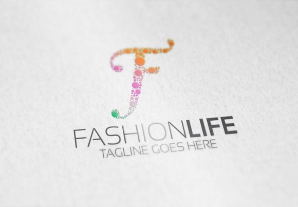 Fashion Life F Letter Logo By Samedia Co On Creative Market