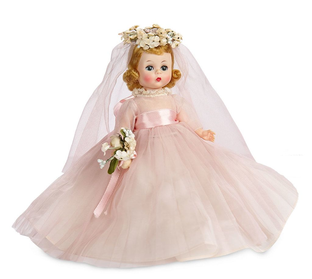 """Naviblue 2019 Wedding Dresses Dolly Collection: """"Wendy Bride"""" In Rare Pink Gown With Elaborate Floral"""