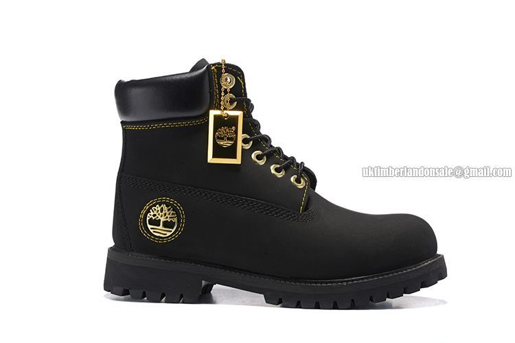b474a79aa6a22 NEW Timberland Men 6 Inch Premium Boot Black and Gold Metal Logo  86.00