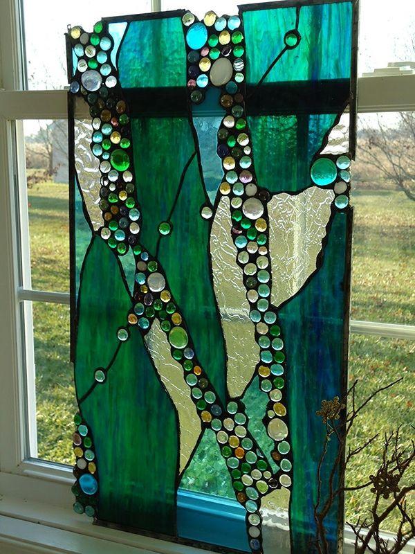 Glasmalerei zu Hause - Buntes Glas als Verschönerung der Innenräume ...