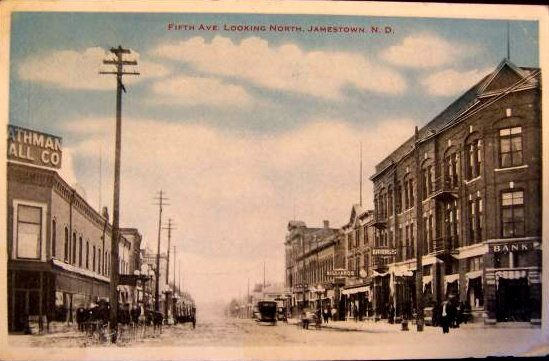 5th Avenue, looking north, Jamestown ND