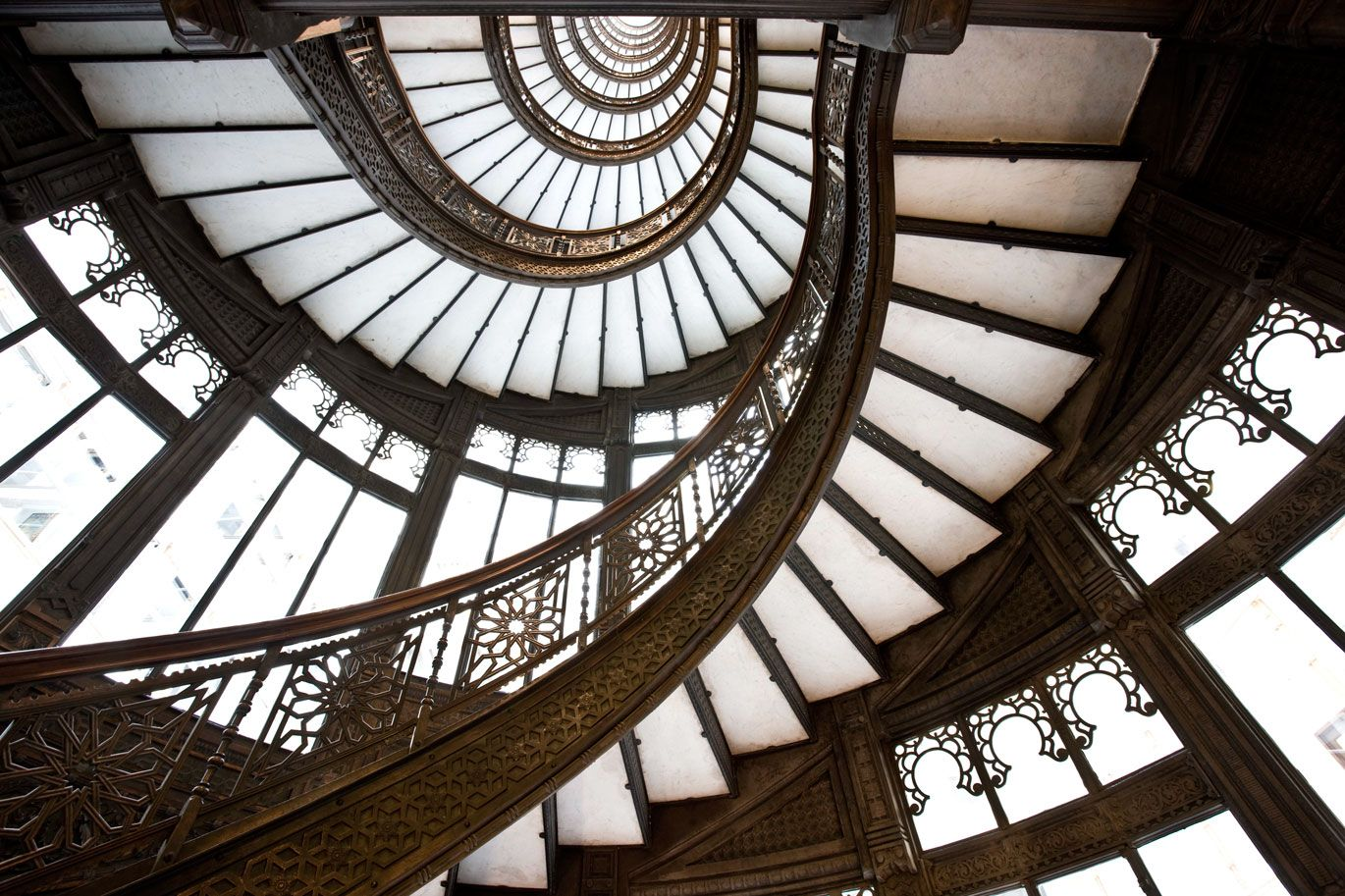 Rookery Building, Spiral Staircase