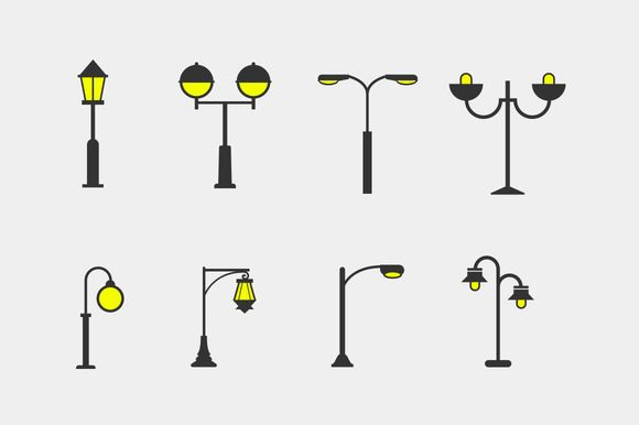 8 Street Lamp Icons Light Icon Lamp Logo Street Lamp