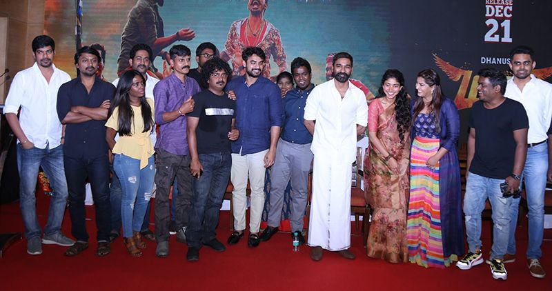 Dhanush, Sai Pallavi At Maari 2 Movie Press Meet