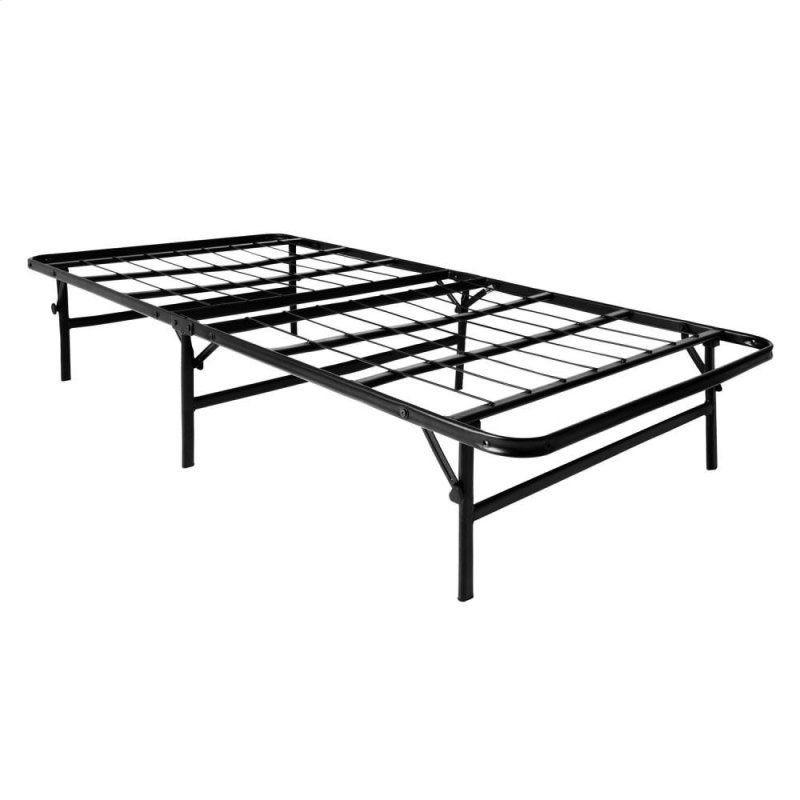 Twin Xl Foldable Mobile Bed Frame Metal Platform Bed Platform