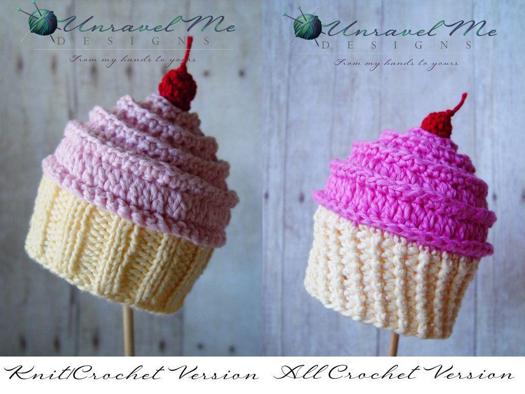 PDF Crochet Pattern and Crochet/Knit pattern - Baby Cakes Cupcake ...