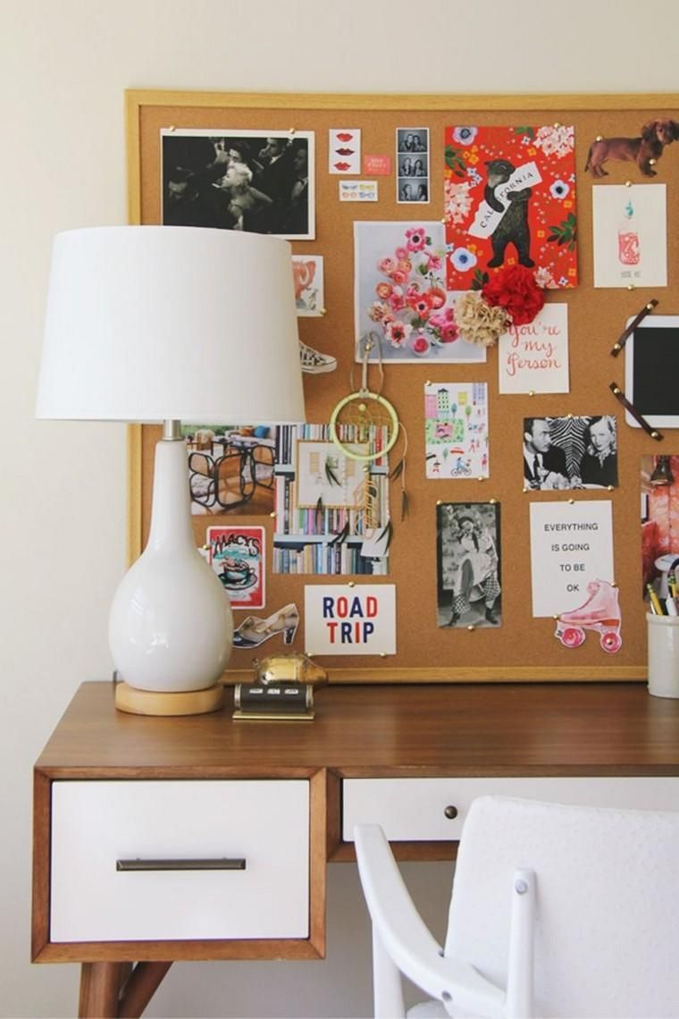 panneau affichage bureau mur idee espace travail