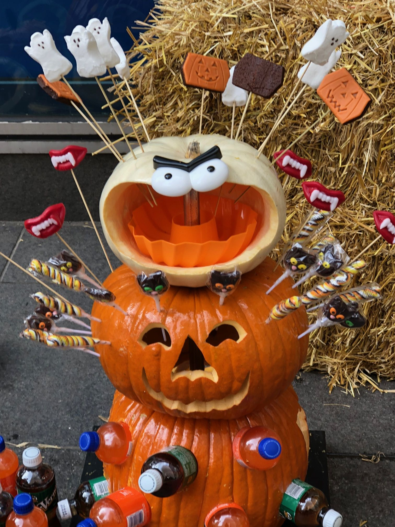 Mr. Handyman created this pumpkin using a cordless drill