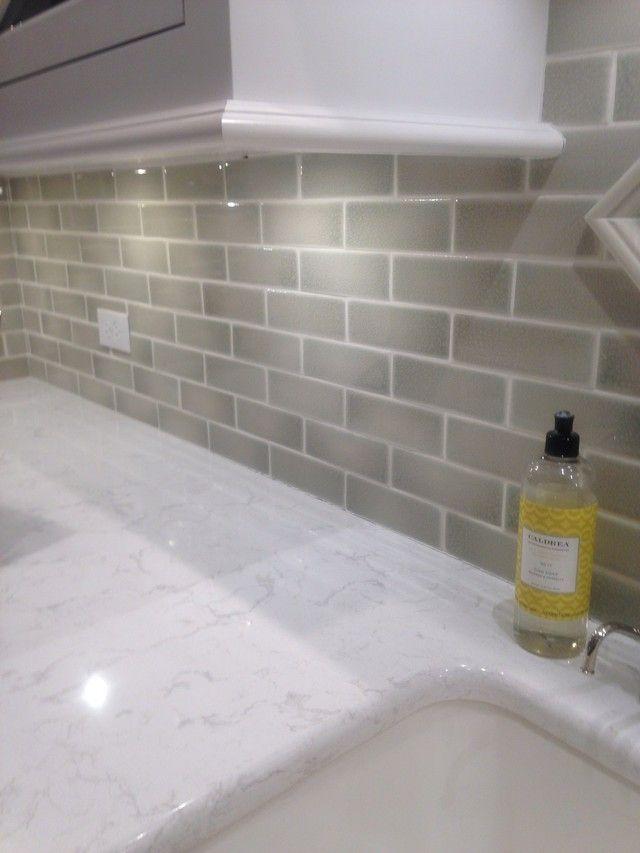White Subway Tile Kitchen Backsplash Grey Grout Back Splashes