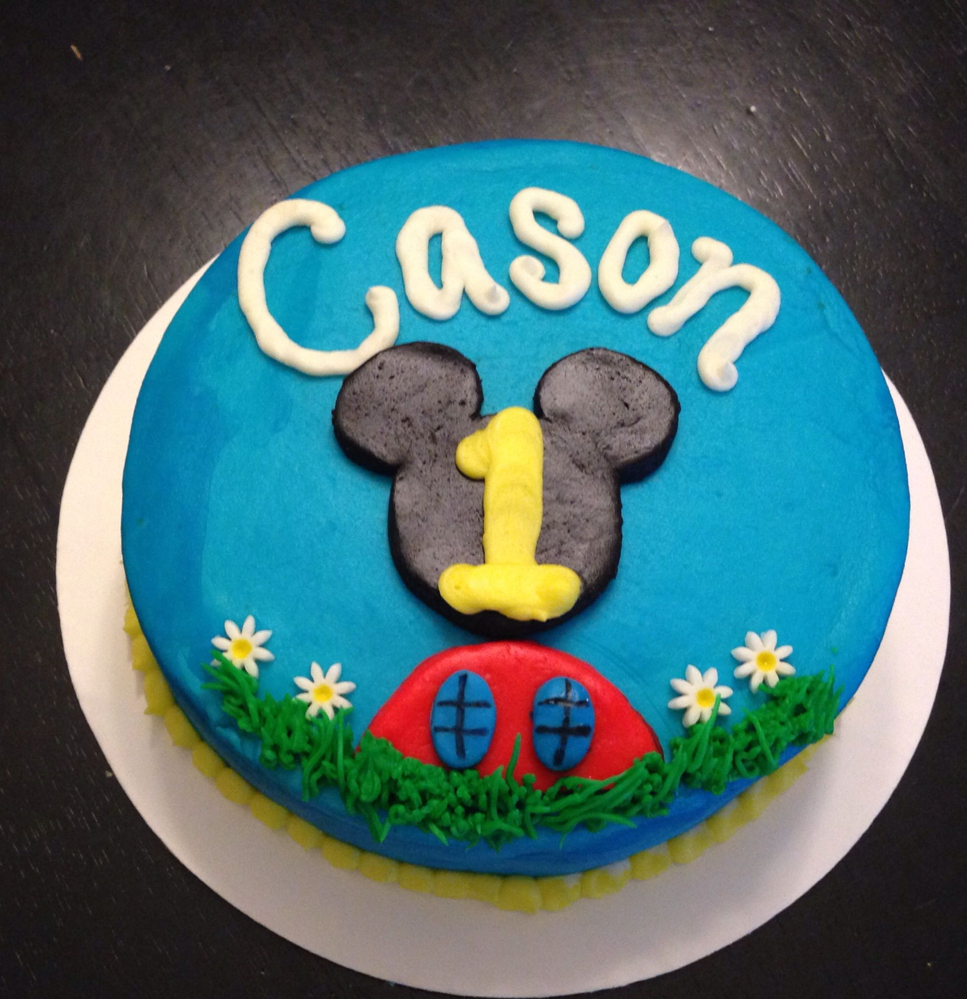 Mickey Mouse 1st Birthday Smash Cake: Mickey Mouse Clubhouse Smash Cake