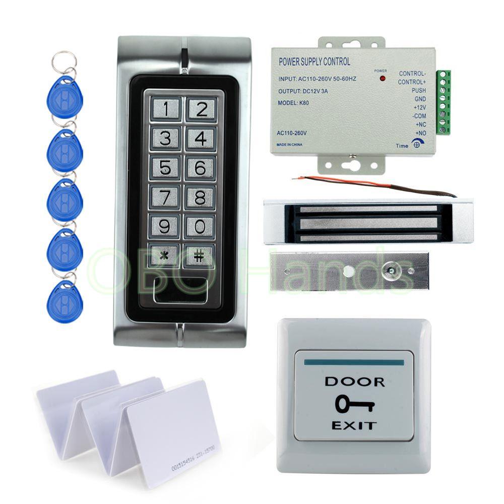 Waterproof Ip68 K2 Metal Keypad Relay Rfid Door Access Control Kit Set With 180kg Electric Magnetic 10 Key Ca Access Control Access Control System Digital Lock
