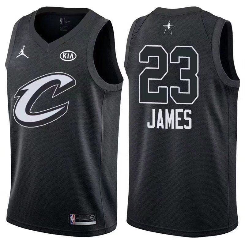 a8c81cb59ae5 2018 All Star Game jersey  23 LeBron James Black jersey