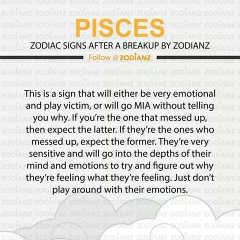 Pisces after a break up    Horoscopes   Pisces zodiac, Pisces love