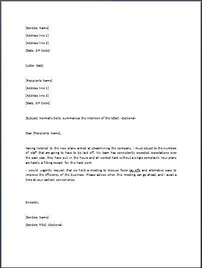 Disagreement Letter Letter Template Word Lettering Letter