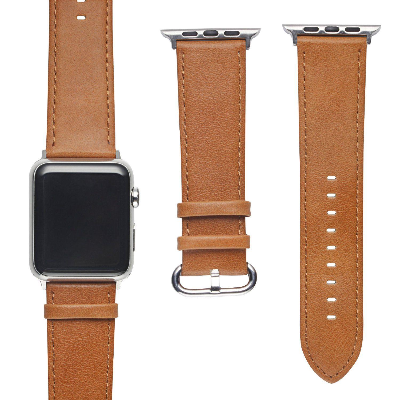 Apple Watch Band, Fullmosa(TM) Testa Pelle Bovina di Strato Cinturino iWatch Wristband di Ricambio con Chiusura in Metallo per tutti i modelli Apple Watch, 42mm Marrone: Amazon.it: Sport e tempo libero