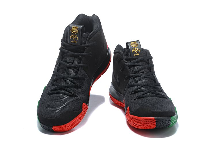 "half off f9618 0d981 2018 Nike Kyrie 4 ""BHM"" Black Green Red Metallic Gold For Sale   Air  Jordans 2018"