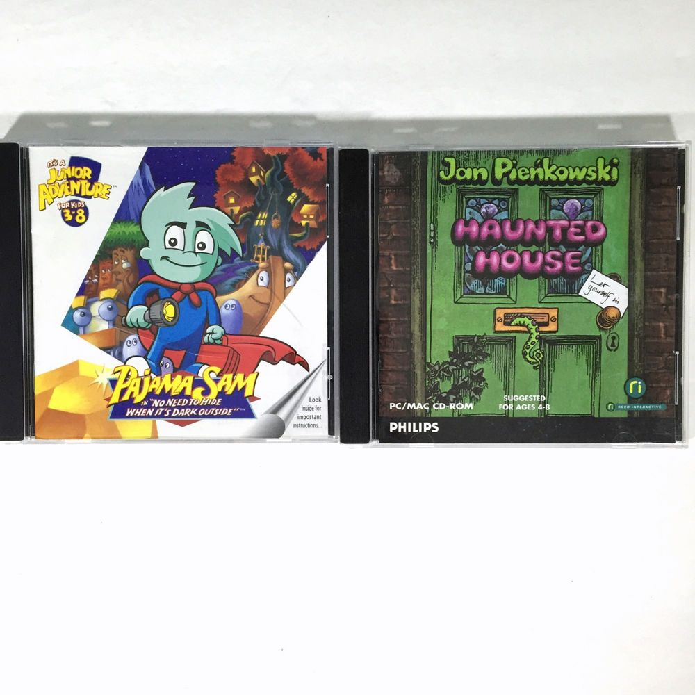 Pajama Sam and Haunted House Games PC CD's Windows Mac