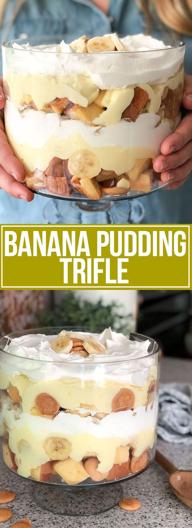 Banana Pudding Trifle - Mother Thyme