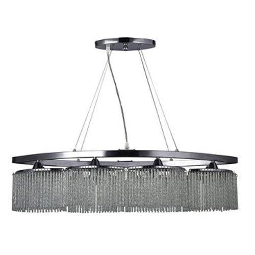 Lucinda Chrome Eight Light Chandelier Canarm Glass Shade Chandeliers Ceiling Lighting