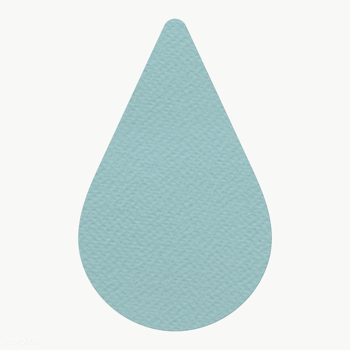 Blue Textured Paper Water Drop Sticker Design Element Free Image By Rawpixel Com Sasi Sticker Design Paper Texture Free Design Resources
